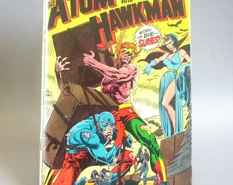 Vintage Comic Book, The Atom and Hawkman No. 45, The Titan and the Fury, November 1969, DC Comics