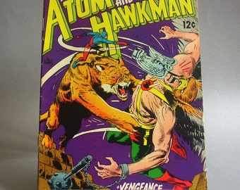 "Vintage Comic Book, The Atom and Hawkman No. 39, ""Vengeance of the Silver Vulture"", November 1968, DC Comics"