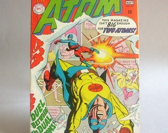 Vintage Atom Comic Book No. 36, Duel Between the Dual Atoms, May 1968, DC Comics
