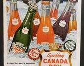 1950's Soda Ad - Colorful Kitchen Wall Art - Vintage Magazine Advertisement