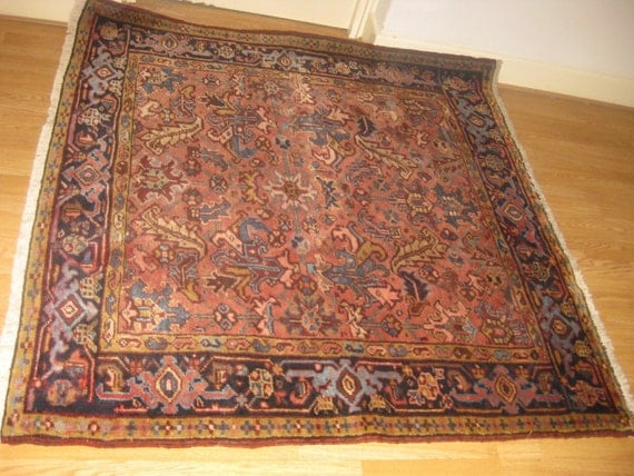 Original Semi Antique Handwoven Persian Rug, Goravan rug