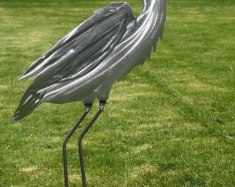 Metal Heron Yard and Garden Art