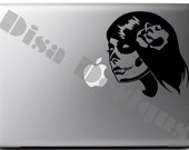 Sugar Skull Girl - Day of The Dead Girl vinyl decal - Macbook decal - Car decal - Windshield decal