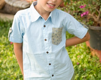 Light blue Shirts,Boys Shirts, Boy Toddler Clothes ,Summer Shirt,Boys Tshirt,Summer Shirts,Toddler Shirts,Birthday Shirts,Cowboy Shirt