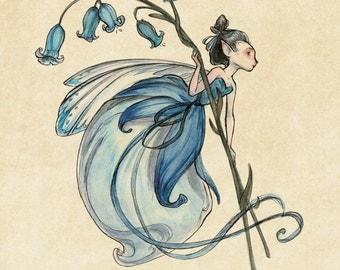 Midsummer Fairies - Bluebell: Art Print