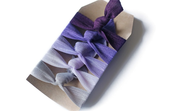 Perfect Hair Ties - Grape Soda - Set of 5 Elastic Hair Ties