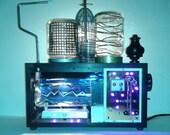 "Steampunk Table Lamp ""Diabolical Lamp 2011a"""