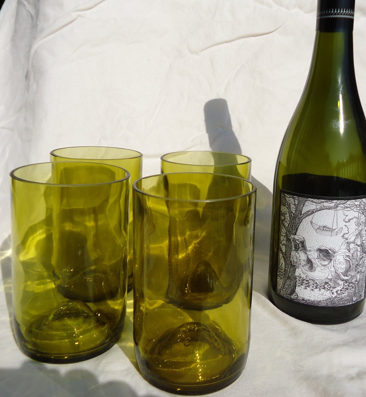 Recycled wine bottle glasses -  Glasses Made From Recycled Bottles Wine