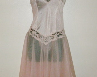 SALE Reg. 39.99 NOW 29.99 Vintage Fairy Lingerie from Pandora 1988 New/Old stock Nightie Medium Peach Lace NEW