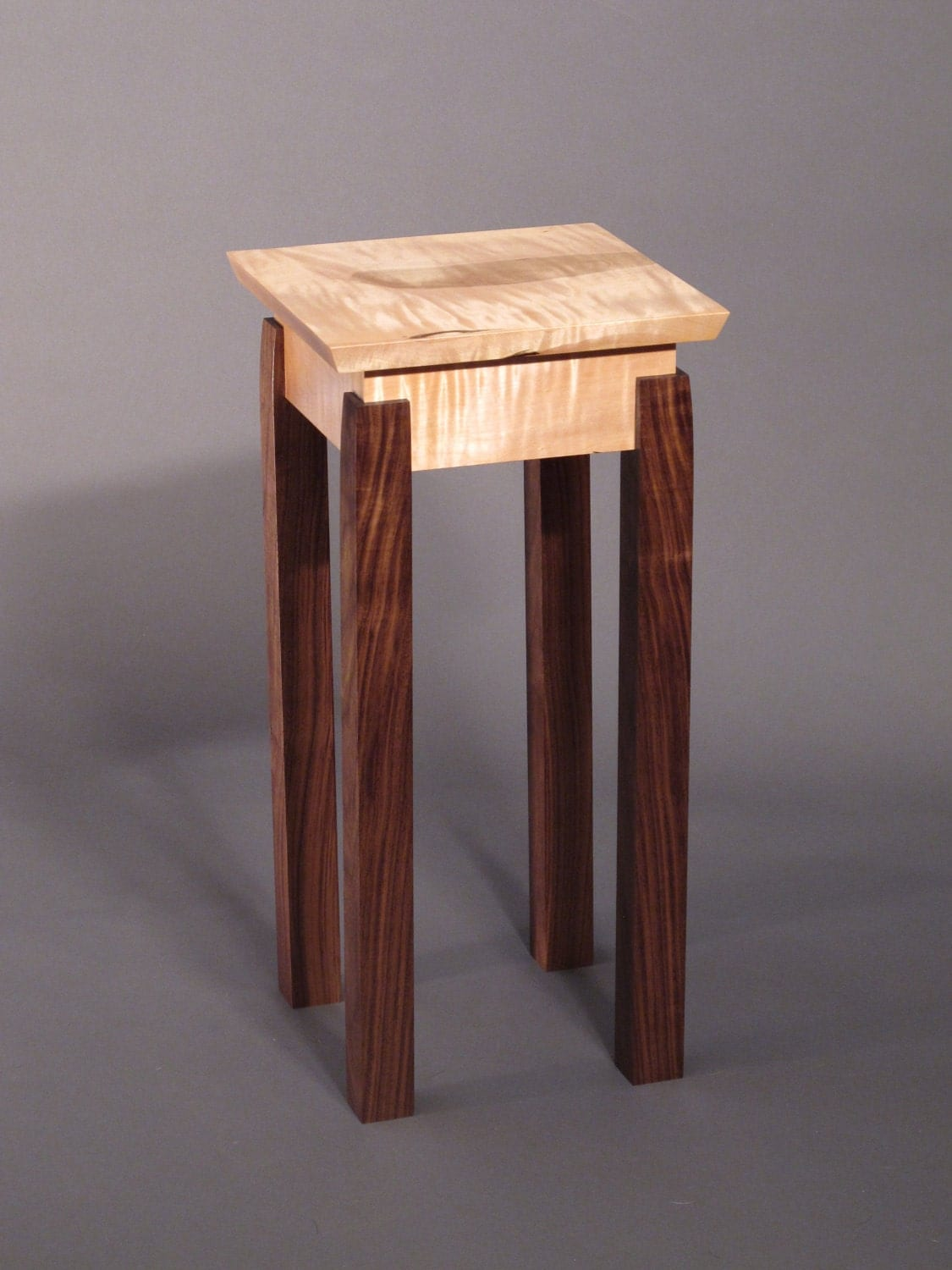 Accent table small end table handmade custom wood furniture for Small wood end table