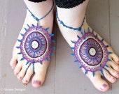 Payal: Mehndi Inspired Barefoot Sandals Pattern
