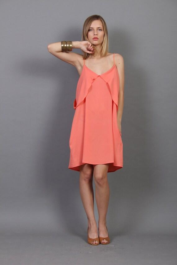 SALE - Coral Boho Sun Dress Summer Dress
