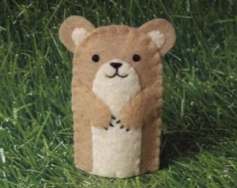 Hamster Finger Puppet - Pet Hamster Puppet - Felt Animal Puppet Hamster -Finger Puppet Pet