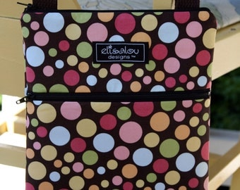 Kindle / iPad Mini / Nook / Sony / eReader / Padded Sling Bag / Cover / Case- Bokeh Dot