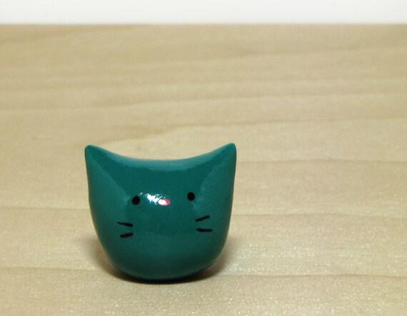 Dark Teal Pocket Kitty