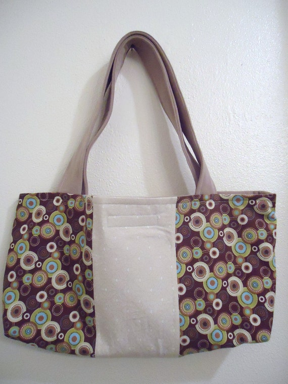 Round and Round in Circles Purse in Beige, Aqua and Green Gift!!