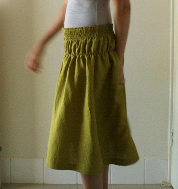linen skirt mustard linen maxi skirt womens by