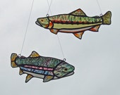 Stained Glass Trout - Freshwater Fish Combo - California Golden and Rainbow Trout