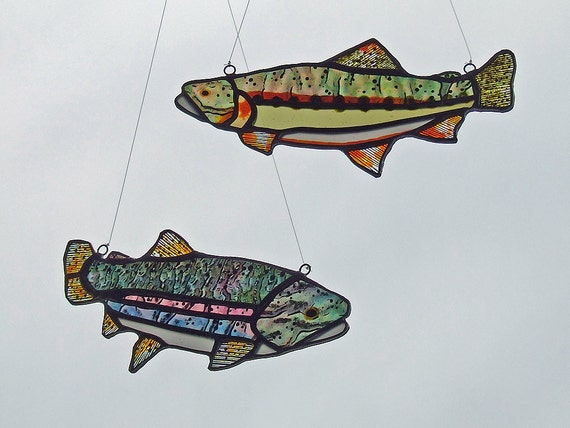 Stained glass trout freshwater fish combo california for California freshwater fish