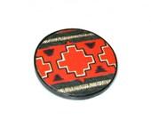 Southwestern Jewelry Tribal Pattern Hipster Boho Brooch Navajo Circle Pin