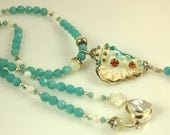She Sells Sea Shells Lampwork & Amazonite Design