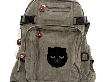 Backpack Sleepy Watson the Cat, Canvas Backpack, Rucksack, Travel Backpack, Cat, Cute Bag, Weekender Bag, Men's Backpack, Women's Backpack