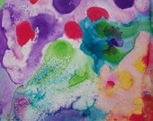 WOW GREAT PRICE!! Close Out Sale Of This  Large Original Abstract Watercolor Painting On Sturdy Illustration Board, Very Colorful, Loft
