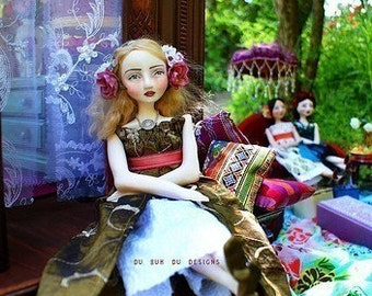 Art Doll Print -Gypsy Caravan- by Christine Alvarado