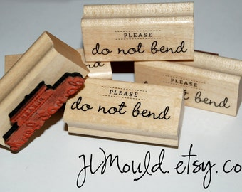 Stocking Stuffer Sale Ready to Ship Red Rubber Professional Photographer Stamp Please Do Not Bend Photo Photos DYI Wedding Small Business