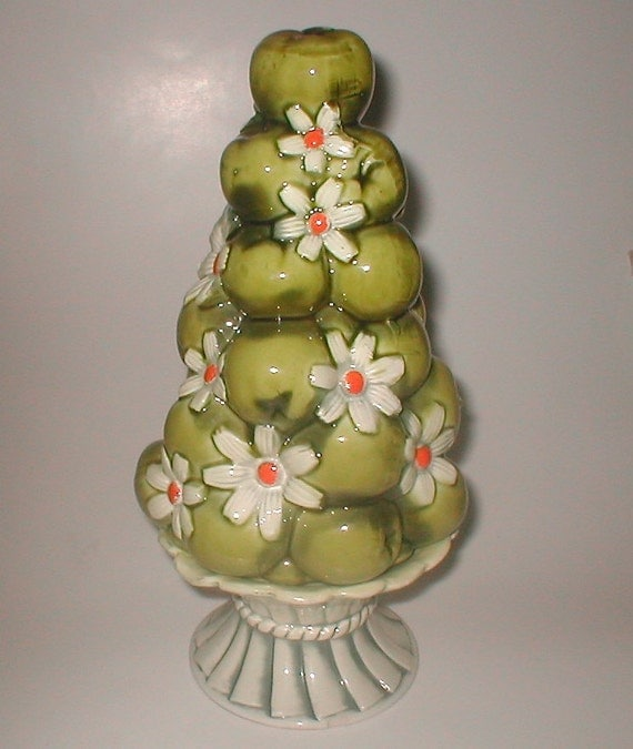 Items Similar To Inarco Fruit Centerpiece Ceramic Green