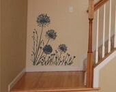 Wall Decal Larger Dandelions Vinyl Wall Art Sticker Nature Wall Decor