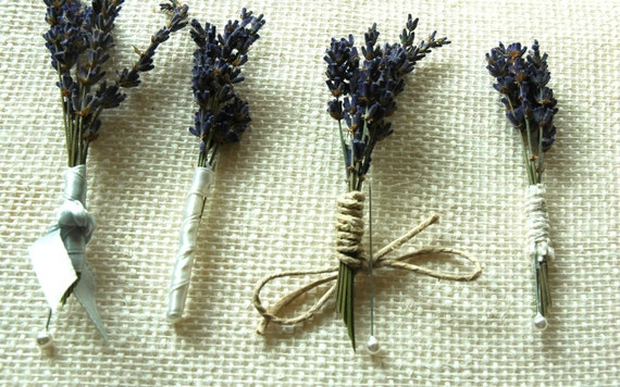 Custom Listing for Alyssa  Dried Lavender Boutonnieres and  Corsages