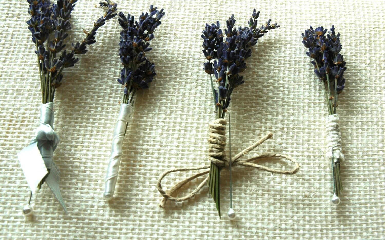 lavender boutonniere-#39