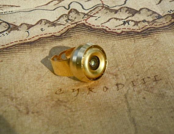 Brass Dwarven Flashlight Ring - Adjustable