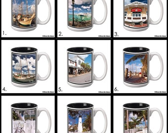 Key West 15 oz. Ceramic Coffee Mug with Original Photography - 9 images to choose from.