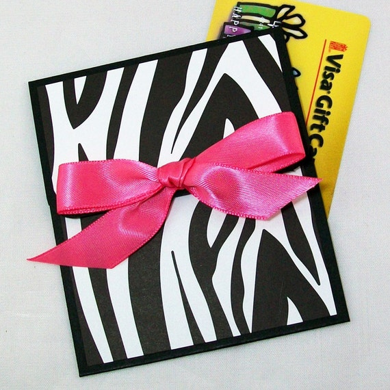 Items Similar To Zebra Print Gift Card Holder With Hot