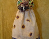 Primitive ePATTERN Tuxedo Cat Bagholder Sunflowers Doll Original by Raggedyrhondas FAAP team