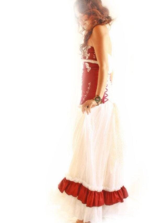 Flor de jamaica mexican wedding fiesta dress convertible
