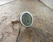 Ancient Roman coin ring  sterling silver ring Unique authentic antique roman coin ring