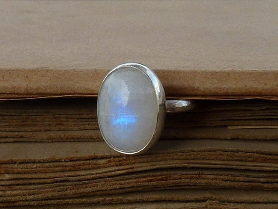 Rainbow Moonstone Ring, June birthstone ring, Cabochon ring,   cocktail ring,   Gemstone ring, statement ring
