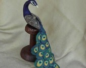 Peacock on a Display Stand - Handcrafted and Made to Order