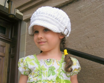 Toddler Newsboy 2T to 4T Toddler Girl Newsboy Cap Toddler Boy Newsboy Hat Toddler Girl Hat Toddler Boy Hat Crochet Newsboy White Newsboy Hat