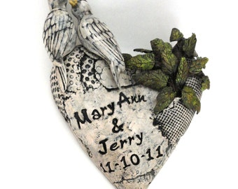 Doves Wedding Heart Personalized unique custom wedding gift