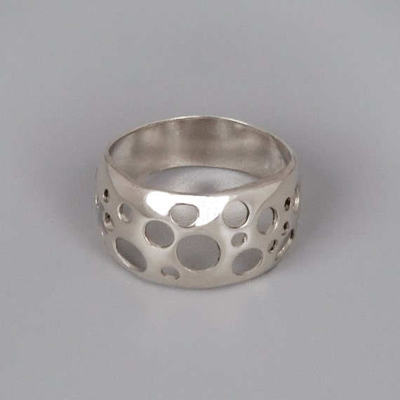 minimal ring wide silver ring sterling silver by toolisjewelry
