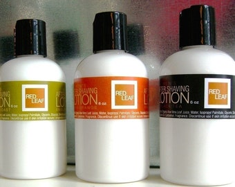Mens After Shaving Lotion, After Shave Balm, Vegan, Free Shipping, Wholesale Offered, Red Leaf Bath and Body