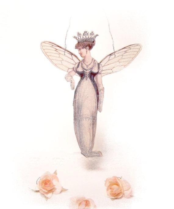 Jane Austen Fairy Jane Austen Fantasy Ornament Hanging Tag