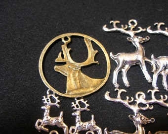 LAST LOT Charms Pendants (12) Deer, Stag, Reindeer Game of Thrones, House Baratheon, EnglishGeeks, TeamESST, paganteam, WWWG, OlympiaEtsy