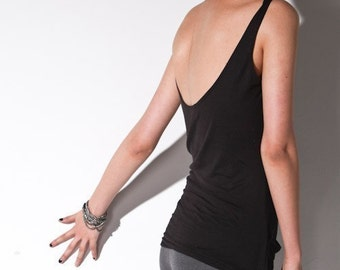 Low Back Tank Top - Womens Resort Tops Les Deux Pockets, womens tank tops, soft tshirts, pockets, tank tops, jersey tank tops, black tank