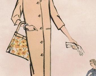 1950s Vogue 9449 Vintage Sewing Pattern Misses Coat Size 10 Bust 31