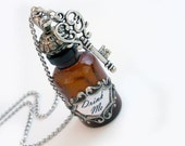 Alice Drink Me Bottle Pendant with Key